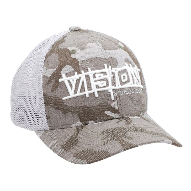 Vision flexfit mesh camo grå fra N/A på fiskegrej.dk